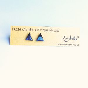 Puces triangle bleu