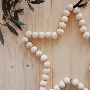étoile-perles-bois-recyclé