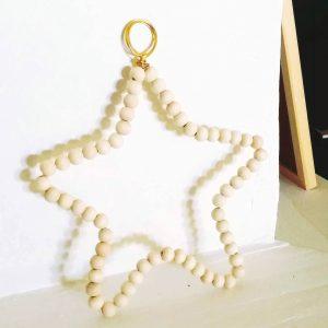 étoile-perles-bois