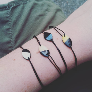 Bracelets Argent Corail Bleu Doré
