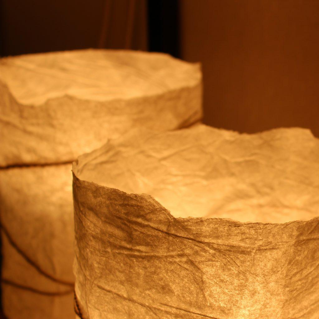 Détails lampions en papier